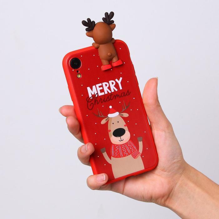 Чехол для телефона iPhone XR «Счастливого рождества», с персонажем, 7,6 х 15,1 см - фото 3