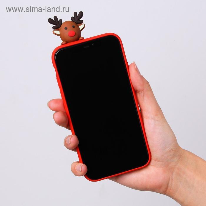Чехол для телефона iPhone XR «Счастливого рождества», с персонажем, 7,6 х 15,1 см - фото 4