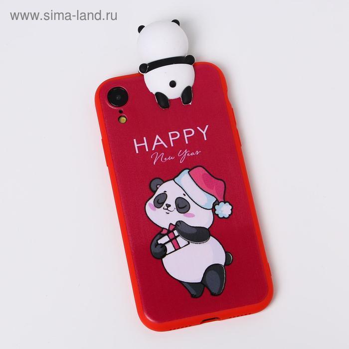 Чехол для телефона iPhone XR «Радостный панда», с персонажем, 7,6 х 15,1 см - фото 1