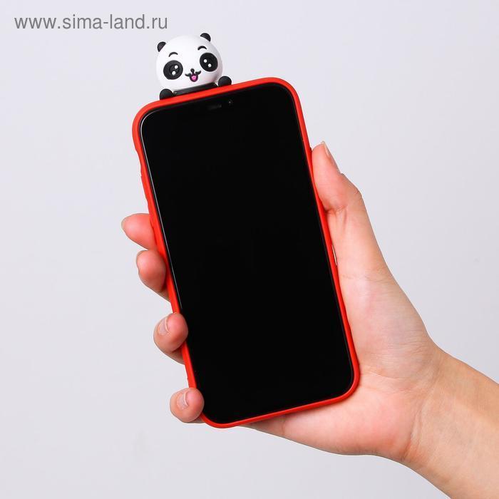 Чехол для телефона iPhone XR «Радостный панда», с персонажем, 7,6 х 15,1 см - фото 3