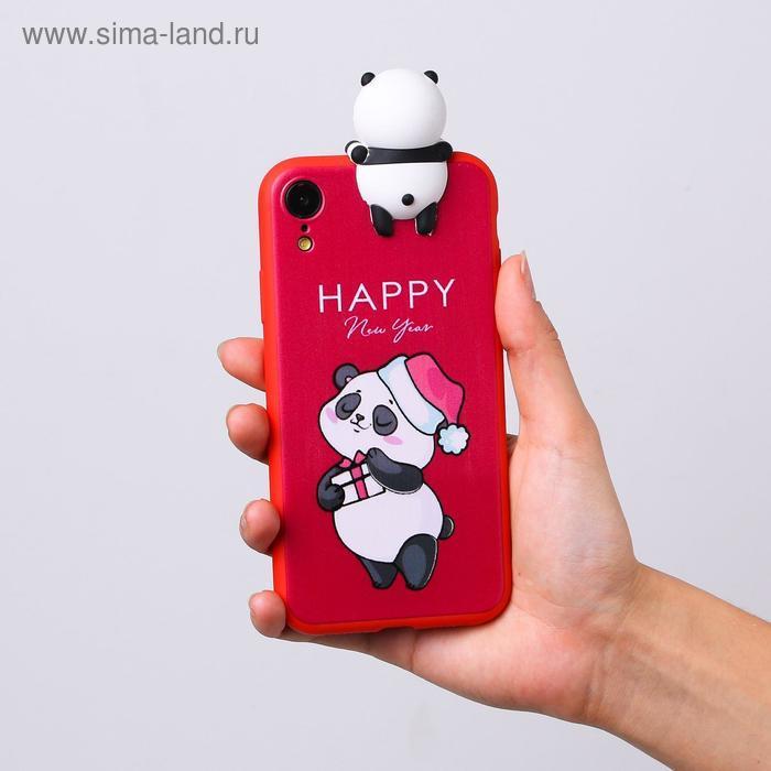Чехол для телефона iPhone XR «Радостный панда», с персонажем, 7,6 х 15,1 см - фото 4