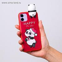 Чехол для телефона iPhone 11 «Радостный панда», с персонажем, 7,6 х 15,1 см