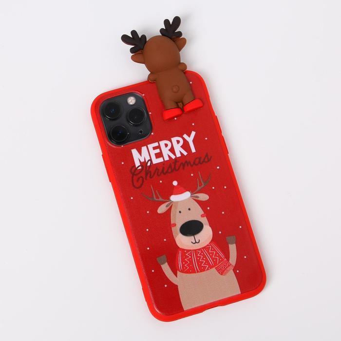 Чехол для телефона iPhone 11 pro «Счастливого рождества», с персонажем, 7,14 х 14,4 см - фото 1