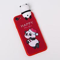 Чехол для телефона iPhone 7,8 «Радостный панда», с персонажем, 6,8 х 14,0 см
