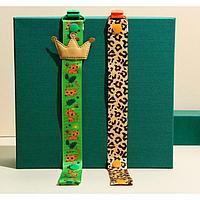 Набор держателей на ленте для пустышек «ТРЕНД. Леопард»