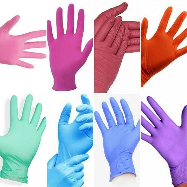Нитриловые одноразовые перчатки (неопудренные, нестерильные), S - фото 1