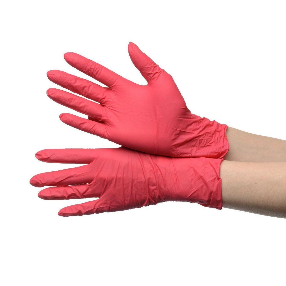 Нитриловые одноразовые перчатки (неопудренные, нестерильные), S - фото 2