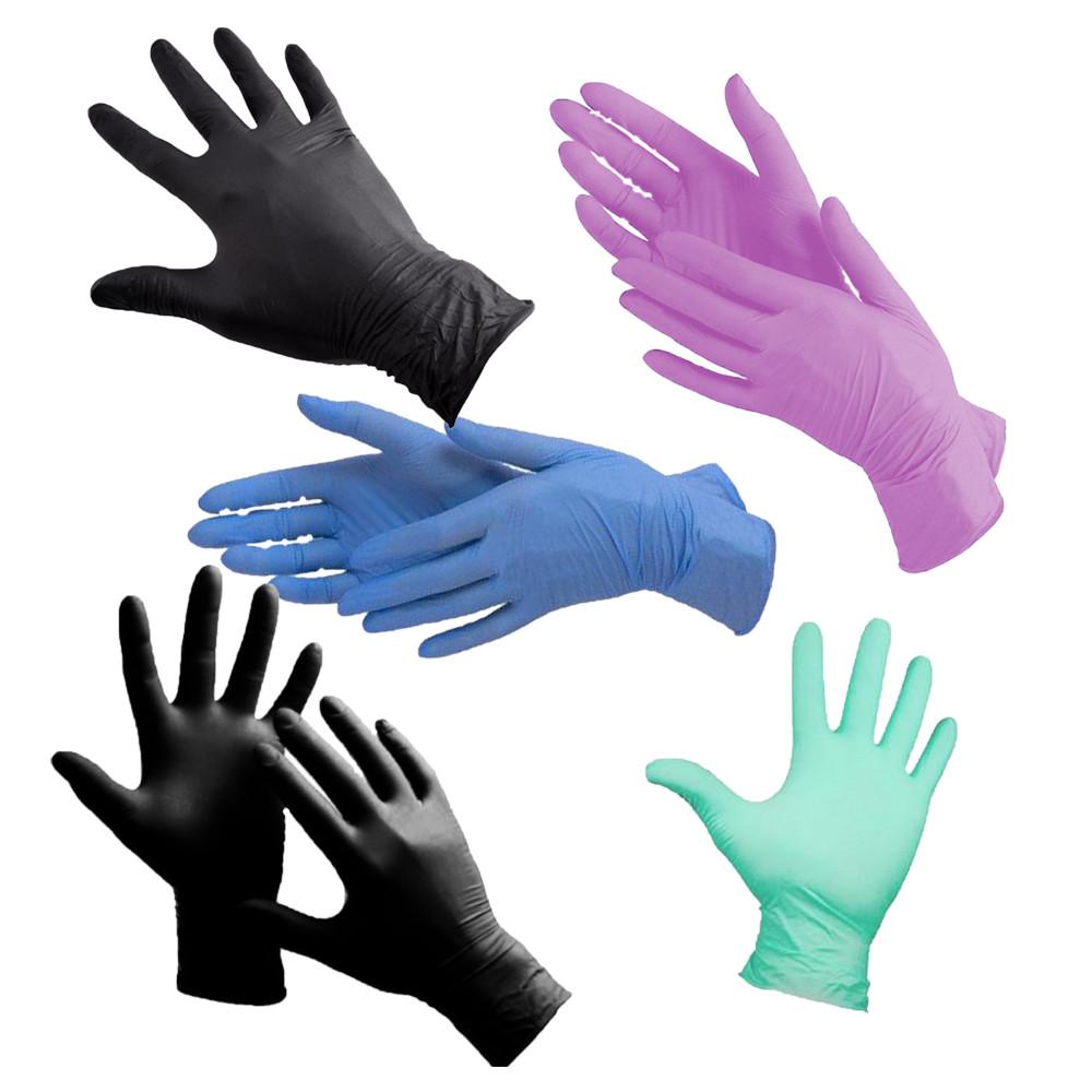 Нитриловые одноразовые перчатки (неопудренные, нестерильные), S - фото 3