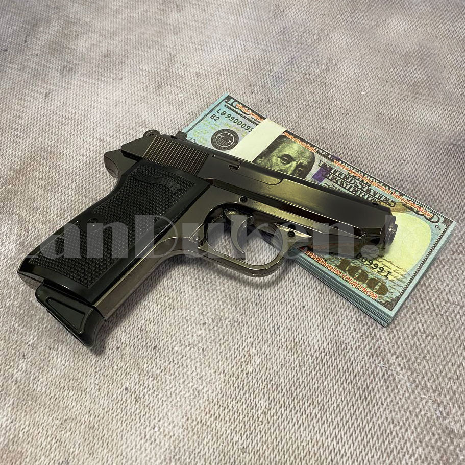 Мужской подарочный набор зажигалка-пистолет туалетная вода 2 пары носков Бокс подарочный для мужчины - фото 5