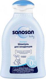 Sanosan  шампунь для младенцев   с оливк. маслом и молочн. протеин 200мл