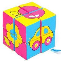 Набор мягких кубиков 'Собери картинку. Предметы'