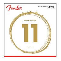 Струны для акустической гитары Fender 80/20 Bronze Wound 11
