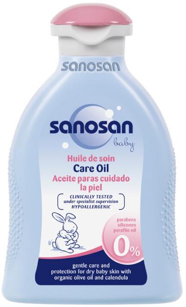 Sanosan Бэби масло детское с календулой и оливковым маслом 200 мл