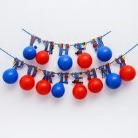 Гирлянда на ленте с воздушными шарами 'С Днем Рождения!', Человек-паук