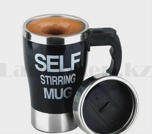 Термокружка - мешалка SELF STIRRING MUG (кружка самомешалка) черно-белые в ассортименте - фото 3