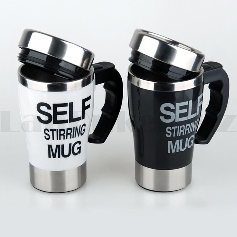 Термокружка - мешалка SELF STIRRING MUG (кружка самомешалка) черно-белые в ассортименте - фото 5