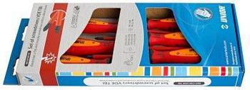 Набор отвёрток изолированных, рукоятки TBI, в картонной упаковке - 603CS6VDETBI UNIOR