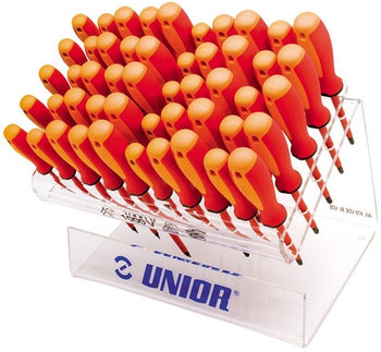 Набор отвёрток шлицевых изолированных, рукоятки TBI, в демонстрационном стенде - 603S50VDETBI UNIOR