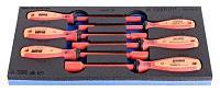 Набор отвёрток внутренних шестигранников изолированных TBI в SOS-ложементе - 964VDE8E UNIOR