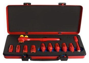 """Набор головок торцевых изолированных 1/2"""" в металлической коробке - 190VDE6P11 UNIOR"""