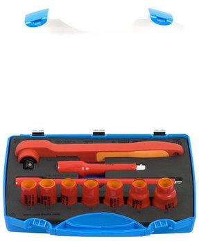 """Набор головок торцевых изолированных 1/2"""" в пластиковом кейсе - 190VDE6P10 UNIOR"""