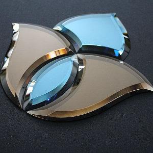 стекло для витражей, фацетные элементы