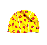 Шапка для плавания детская клубничка