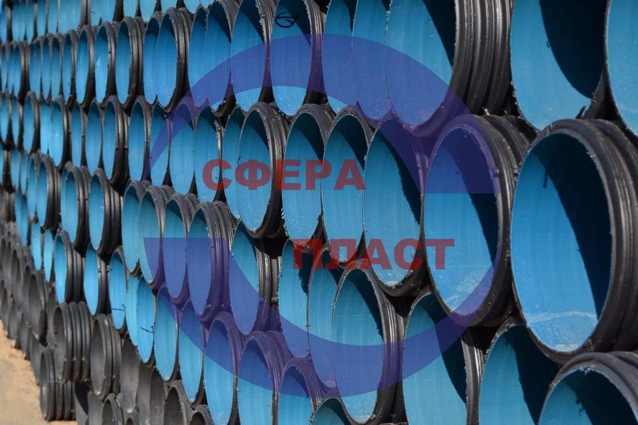 Труба SN8 Ду-500 канализационная гофрированная