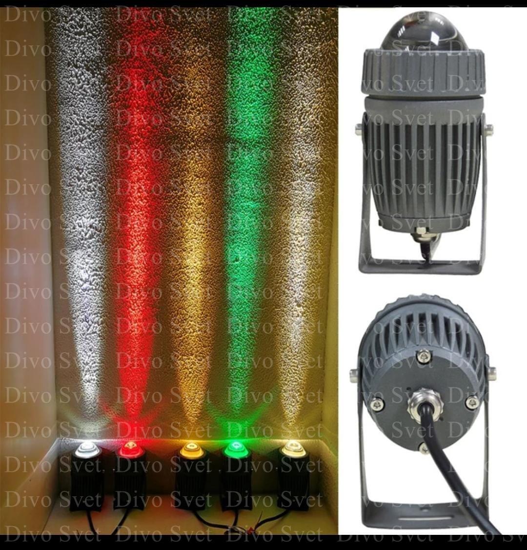 """LED светильник """"ЛУЧ"""" 10W, всех цветов! Светодиодный архитектурный, фасадный прожектор Луч (линза)."""