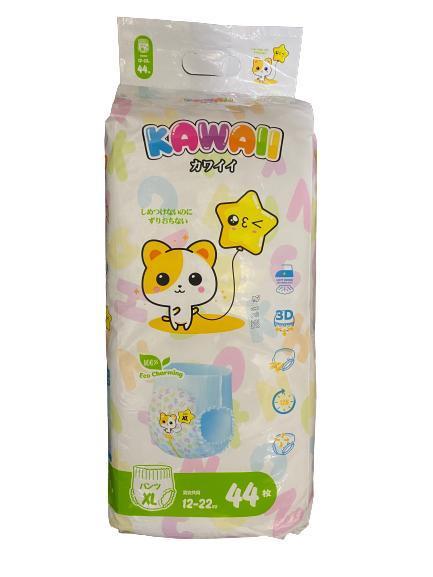 Трусики -подгузники KAWAII размер XL (12-22кг) 44 штуки