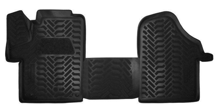 Коврики в салон Mercedes-Benz Vito W447 (2014-2021) передние 2шт, 3D с подпятником