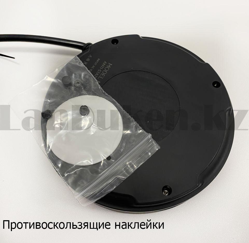 Удлинитель сетевой фильтр 2 розетки 3 USB, быстрая зарядка 3.0 с подставкой для телефона moxom MX-ST03 черный - фото 7