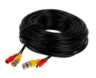 Готовый обжатый кабель для видеонаблюдения BNC + питание для камер, длиной 20 метров