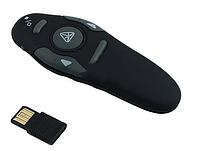 Беспроводной презентер Wireless Presenter WP300, дальность 15 м, красный лазер, черный, USB