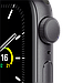 AApple Watch SE GPS, 44mm Space Gray Aluminium Case with Black Sport Band, фото 2