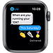 AApple Watch SE GPS, 44mm Space Gray Aluminium Case with Black Sport Band, фото 6