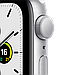 Apple Watch SE GPS, 44mm Silver Aluminium Case with White Sport Band, фото 2