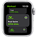 Apple Watch SE GPS, 44mm Silver Aluminium Case with White Sport Band, фото 3