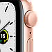 Apple Watch SE GPS, 44mm Gold Aluminium Case with Pink Sand Sport Band, фото 2