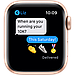 Apple Watch SE GPS, 44mm Gold Aluminium Case with Pink Sand Sport Band, фото 6