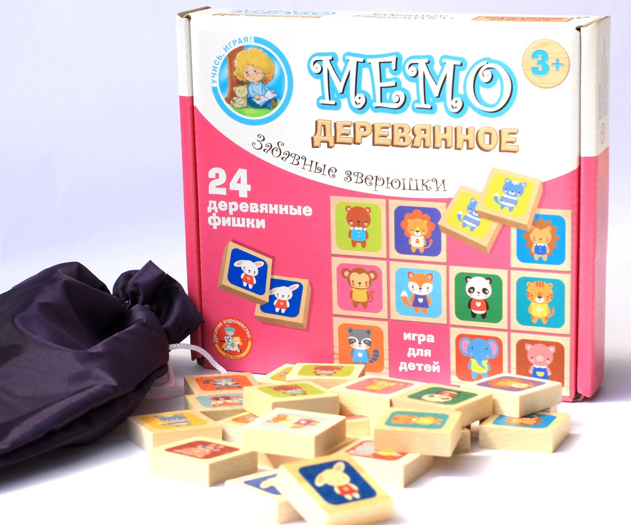 Деревянная игра МЕМО «Забавные зверюшки»