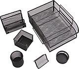 """Набор настольный Berlingo """"Steel&Style"""" 7 предмета, металлический, сетчатый, черный"""