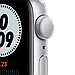 Apple Watch Nike Series 6 GPS, 44mm Silver Aluminium Case with Pure Platinum/Black Nike Sport Band, фото 2