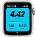Apple Watch Nike Series 6 GPS, 44mm Silver Aluminium Case with Pure Platinum/Black Nike Sport Band, фото 3