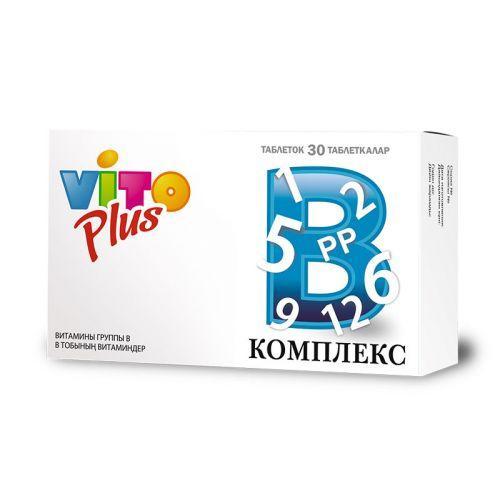 Vito Plus витамины группы В №30 табл.