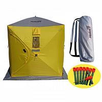 Палатка для зимней рыбалки ТОНАР HELIOS КУБ 1.5х1.5 м, желтый-серый