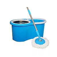 Набор для уборки, ведро 14 л с отжимом, швабра с круглой насадкой (2 шт., крепление кольцо)
