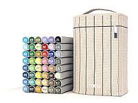 """Профессиональные маркеры Croma lite Brush набор 48 шт. палитра """"Fashion set""""Дизайн одежды"""