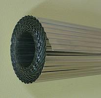 Фольга алюминиевая гофрированная для теплотрасс 0,15 мм
