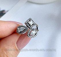 Кольцо с цирконами. Серебро 925 проба